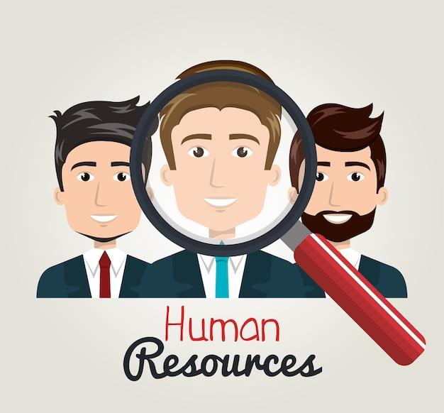 Szukaj zasobów ludzkich kreskówek ludzi