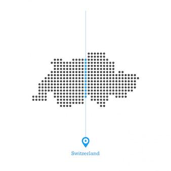 Szwajcaria zapałała mapą wektor