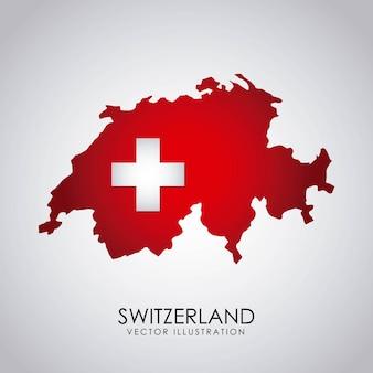 Szwajcarski projekt nad szarą tło wektoru ilustracją