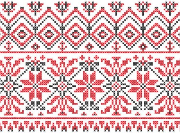 Szwedzki drutach wzory zestaw wektorowe