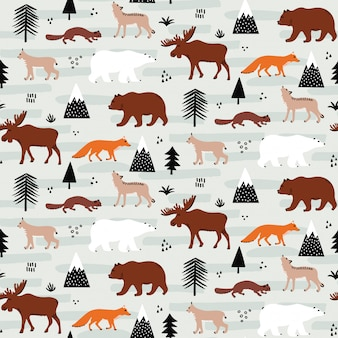Szwu kanadyjskich zwierząt wzór