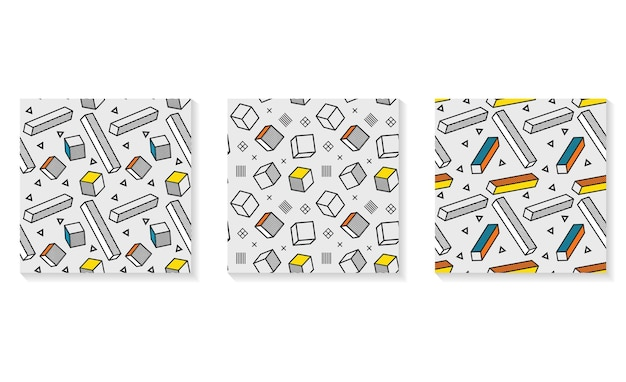 Szwu, kolorowy wzór z elementami graficznymi 3d.