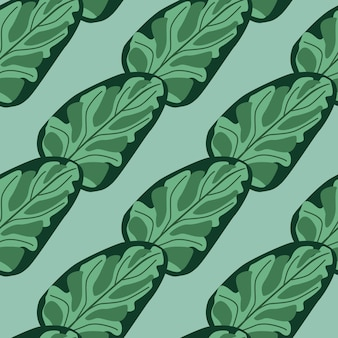 Szwu sałatka ze szpinaku na niebieskim tle paski. streszczenie ornament z sałatą. ukośny szablon roślinny do tkaniny. projekt ilustracji wektorowych.