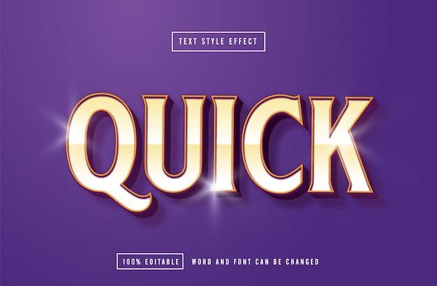Szybki edytowalny efekt fioletowy tekst
