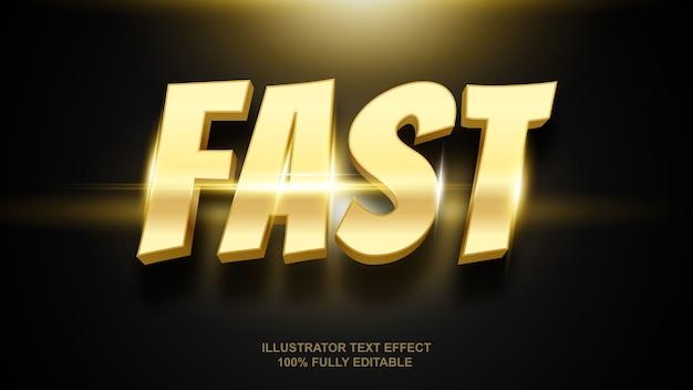 Szybki efekt tekstu złota