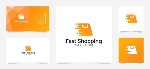 Szybkie logo zakupów i wizytówki