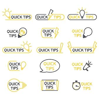 Szybkie porady pomocne sztuczki podpowiedź do strony internetowejtricks szybka wskazówka rozwiązanie logo przydatne porady