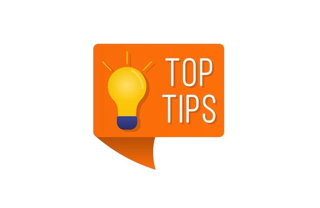 Szybkie wskazówki, napisy, zestaw przydatnych sztuczek, logo, emblematy, banery, przydatne rozwiązanie pomysłu