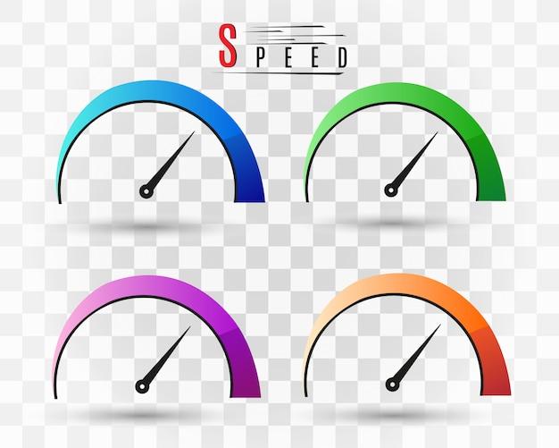 Szybkość internetu. symbol prędkości logo.