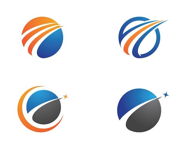 Szybszy szablon logo wektor ikona ilustracja projekt