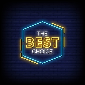 Szyld best choice neon