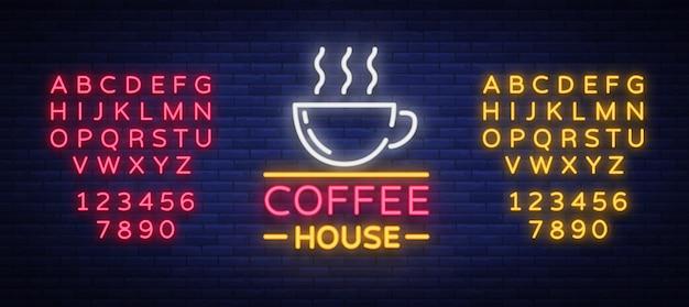 Szyld kawy neon