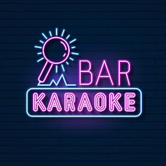 Szyld neon bar karaoke. wyświetlacz led neon light sign.