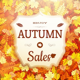 Szyld sprzedaży jesienią.