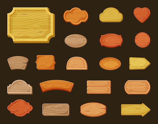 Szyldy drewniane duży zestaw banerów