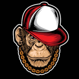 Szympans hiphopowy wektor