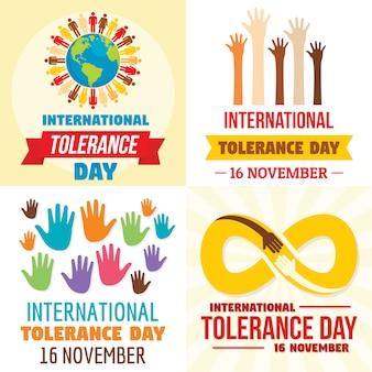 Tła dnia tolerancji