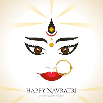 Tło bogini Durga twarzy