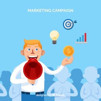 Tło kampanii marketingowej człowieka
