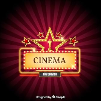 Tło kinowe z gwiazdami