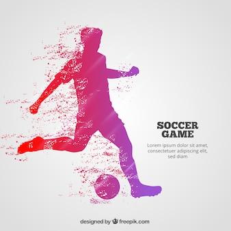 Tło meczu piłki nożnej z graczem