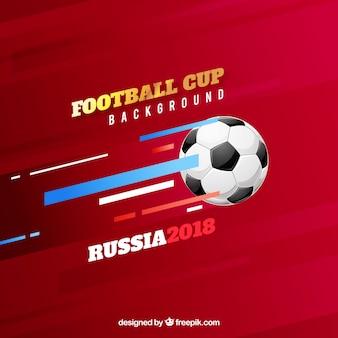 Tło puchar piłki nożnej z piłką