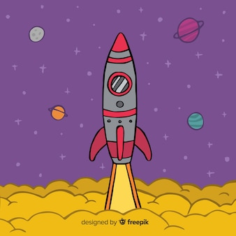 Tło rakieta startu