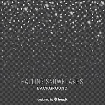 Tło spadające płatki śniegu