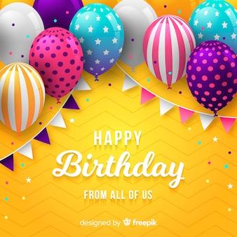 Tło urodziny balon