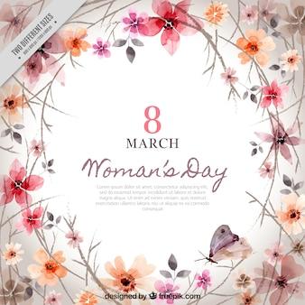 Tło z kwiatowej dekoracji dnia kobiety