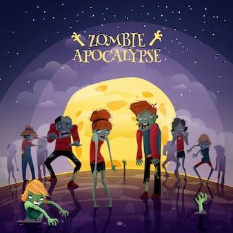 Tło zombie apokalipsa