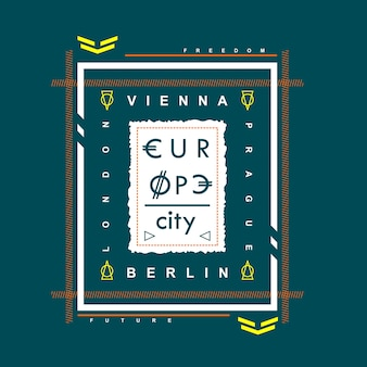 T shirt design wiedeń miasto europy