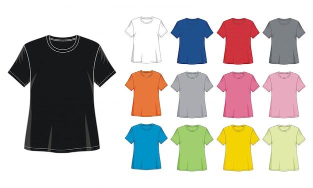 T shirt dziewczyna szablon