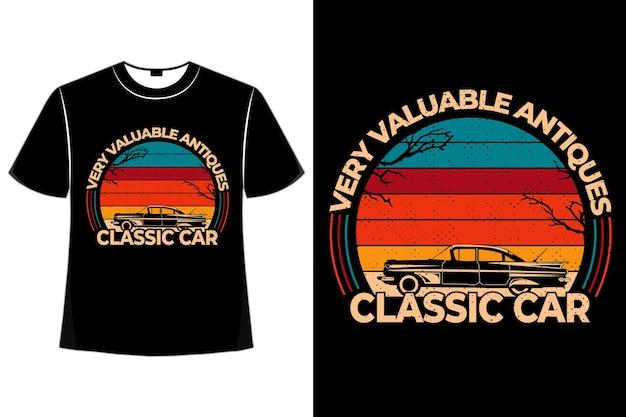 T-shirt klasyczny samochód antyki w stylu retro vintage