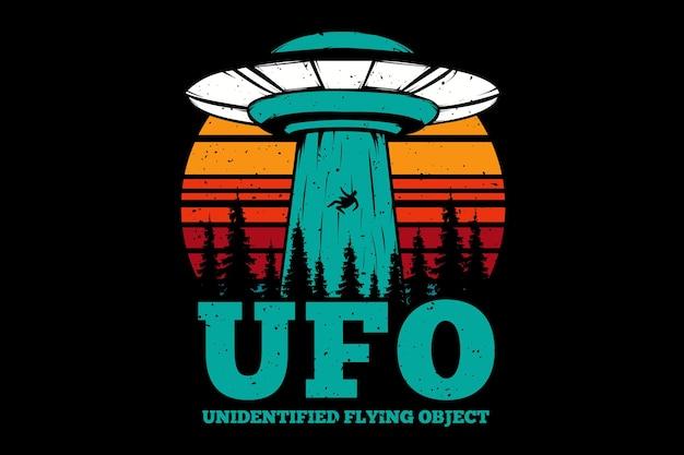 T-shirt latający plan obiektu ufo
