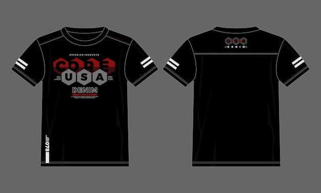 T-shirt rdzeń typografii usa w nowoczesnym stylu premium wektorów