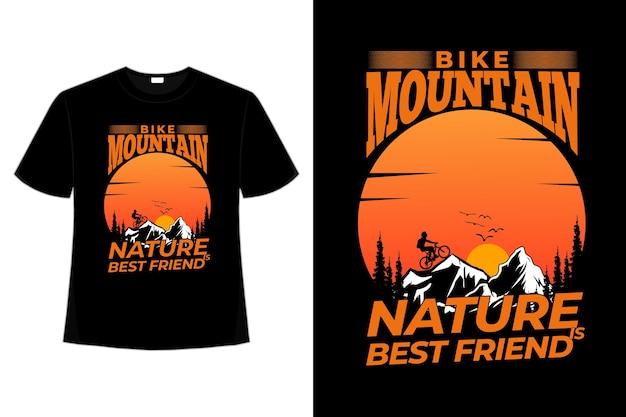 T-shirt rower górski natura sosna lato