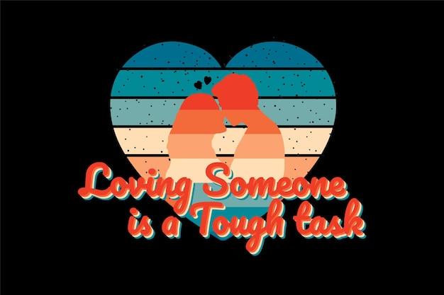 T-shirt sylwetka romantyczna para kochająca kształt serca