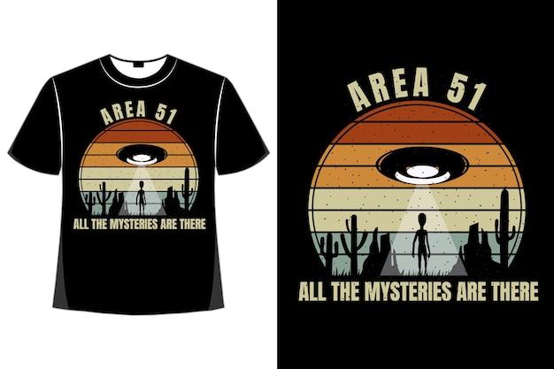 T-shirt sylwetka tajemnice w stylu retro vintage