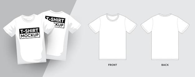 T-shirt szablon zarys obrysu ilustracje