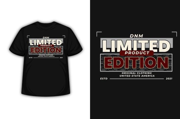 T-shirt Typografia Limitowana Edycja Ubrań Kolor Biało-czerwony Premium Wektorów