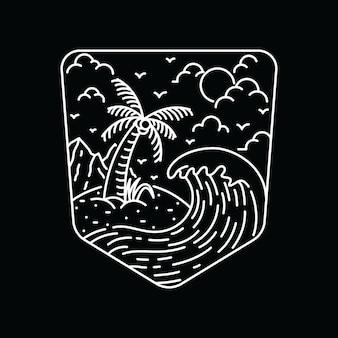 T-shirt z grafiką na lato i na plażę