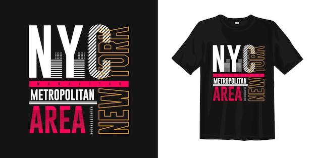 T-shirt z grafiką typograficzną nyc metropolitan area