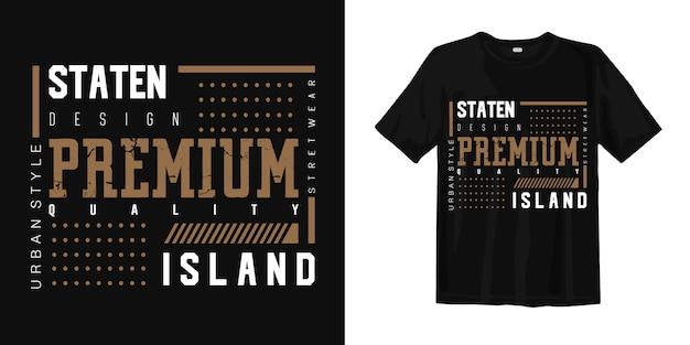 T-shirt z nadrukiem miejskim w stylu staten island