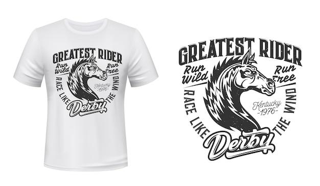 T-shirt z nadrukiem na wyścigi ogierów konnych