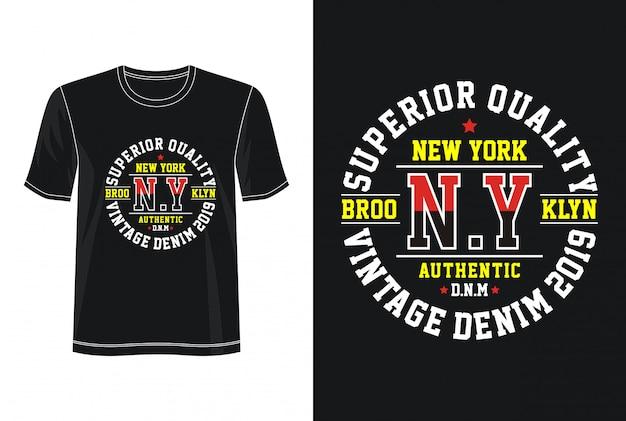 T-shirt z nadrukiem new york