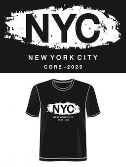 T-shirt z nadrukiem nyc