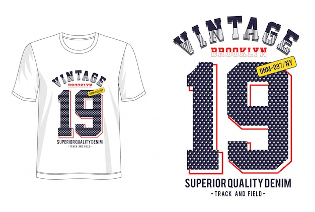 T-shirt z nadrukiem vintage 19