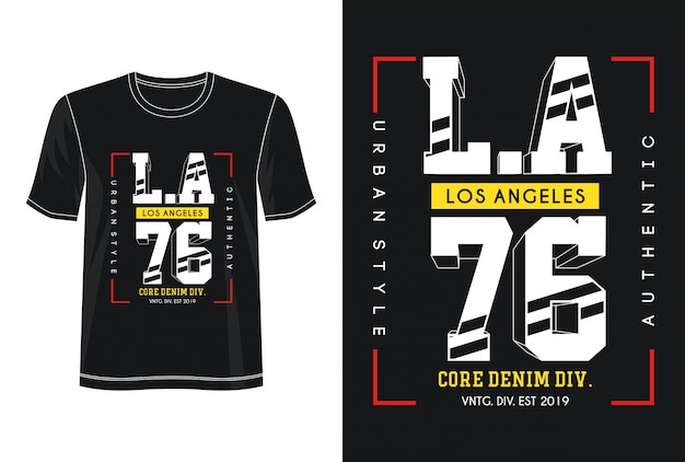 T-shirt z nadrukiem w los angeles