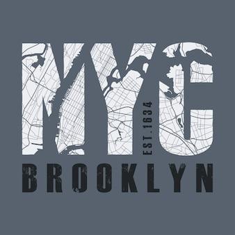 T-shirt z nadrukiem w nowym jorku. tshirt grafika znaczek etykiety typograp